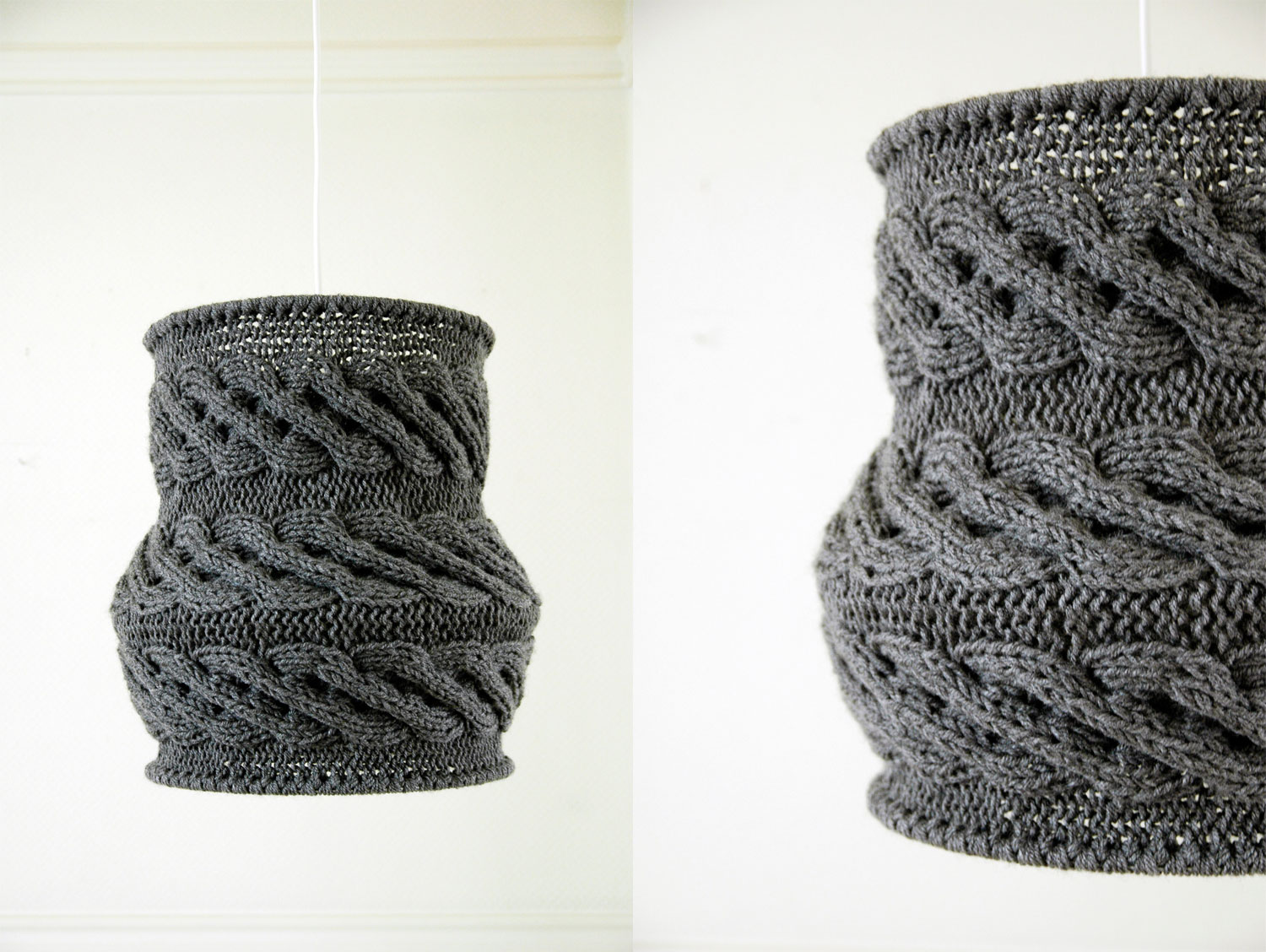 Wonderful Designed As A Pendant Lampshade. Very Fashionable. Made Of Soft, Cozy, 100%  Acrylic Yarn. Nicely Admit Light, Each Evening Will Be ...